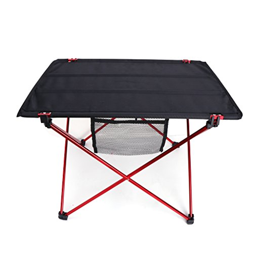 UJuly 4 Persons Portable Picnic Table with 2 Container Bags Outdoor Folding Ultra-light Aluminum Alloy Portable Dustproof Camping Traveling for Kids Adults Emergency by UJuly