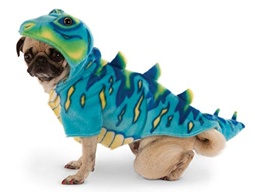 Blue Dino Hoodie for Pet, Medium