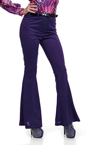 (Charades Women's Disco Pants, Purple)