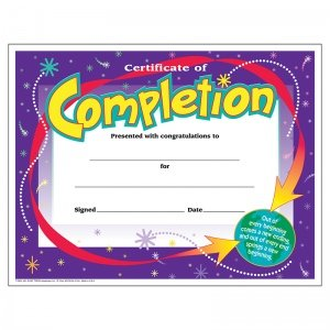 Trend Enterprises T-2963BN Certificate Of Completion44; 30 Per Pack - Pack of 6