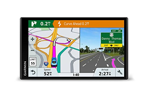 Garmin DriveSmart 61 NA LMT-S with Lifetime Maps/Traffic, Live Parking, Bluetooth,WiFi, Smart Notifications, Voice Activation, Driver Alerts, TripAdvisor, Foursquare by Garmin