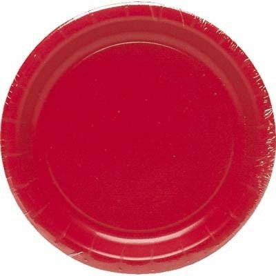 Bulk Buys Lunch Plate Red