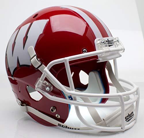 - Schutt NCAA Wisconsin Badgers Replica XP Football Helmet, Scarlet Alt. 1