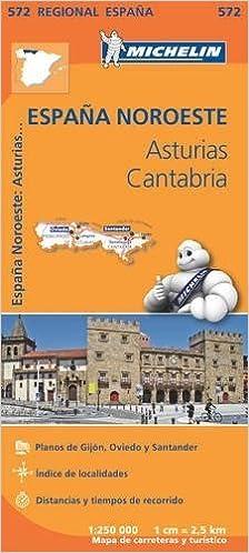 Asturias Cantabria - Michelin Regional Map 572: Map Michelin ...
