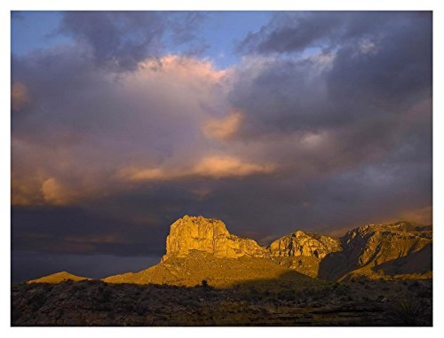 Global Gallery Dp-396364-3040 Tim Fitzharris El Capitan Guadalupe Mountains National Park Print Wall Art