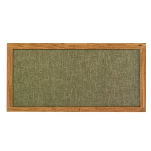 (Marsh 48x48 Blue Sky Vinyl Message Display Bulletin Board, Oak Wood Trim)