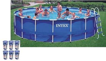 intex 18 x 48 metal frame swimming pool set with 1500 gfci pump