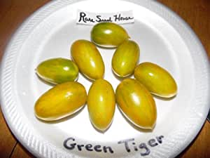 Reliquia de tigre verde tomate Semillas. 20semillas