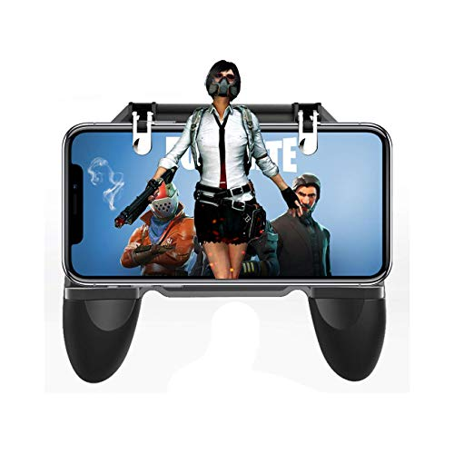 Movie Case Topper Card - PUBG Mobile Controller, Sensitive Shoot Aim Trigger Fire Buttons L1R1 Joystick Knives Out Rules of Survival for Android IOS
