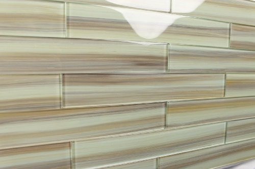 Sublime Beige Taupe Brown Handcrafted Glass Tile For