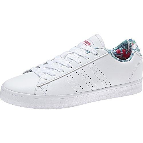 adidas Cf Daily Qt Cl W, Zapatillas de Deporte para Mujer Blanco (Ftwbla / Ftwbla / Rosene)