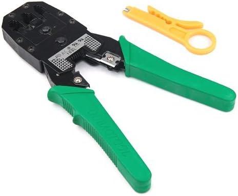 Link-e : Herramienta De Crimpadora Universal Para Cable De Red RJ45 RJ12 RJ11 (8P8C, 6P6C, 4P4C), Alicates, Pelacables, Conexion De Red...