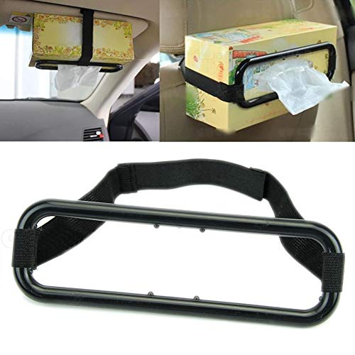 StaunchWea Toilet Roll Holder, Tissue Paper Holder Rack,Car Vehicle Sun Visor Seat Back Plastic Tissue Box Holder Paper Napkin Bracket - Tissue Meridian