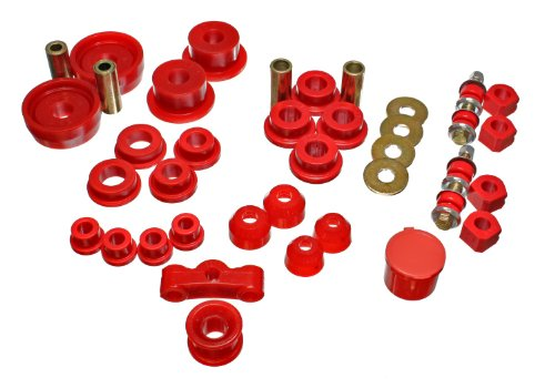 Bushings Crx Energy Suspension (Energy Suspension 16.18101R HyperFlex Master Set for Civic/Crx)