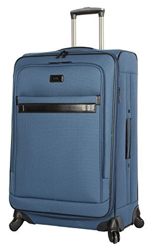 Nicole Miller Paige Collection - Spinner para Equipaje Extensible de 61 cm, Azul, One_Size