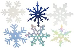 2-Inch Large Shimmer Snowflakes