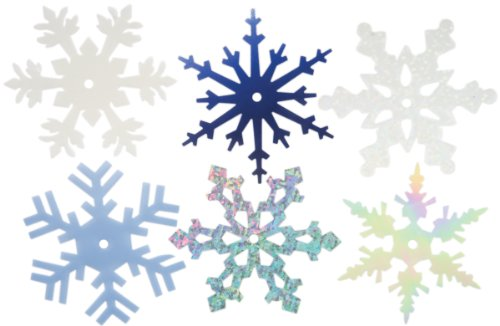 CREATIVE IMPRESSIONS CI63021 2-Inch Shimmer Snowflakes, Large, 50 Per Package ()