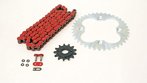 99-2004 Fits Honda Sportrax 400EX TRX400EX Red O-Ring Chain Silver Sprocket 13/38 94L