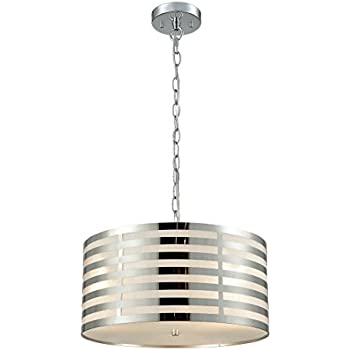 Axiland modern chrome hanging chain drum shade ceiling pendant axiland modern chrome hanging chain drum shade ceiling pendant chandelier 3 light aloadofball Image collections
