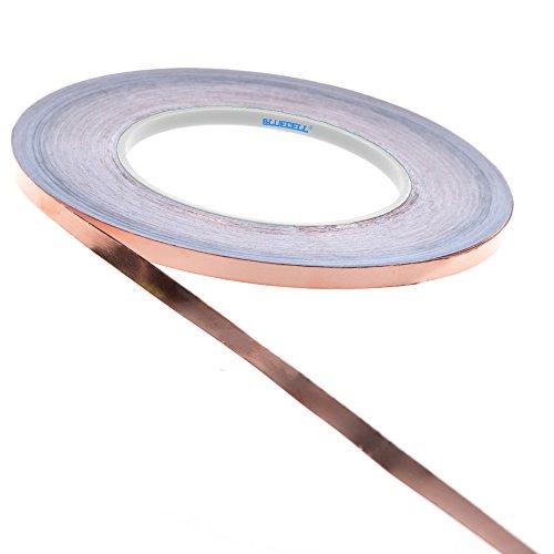Copper Foil Tape (BCP Single-sided Conductive EMI Shielding Copper Foil Tape- 1/4 Inch X 55 Yds)