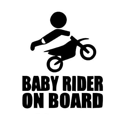 Sedeta/® blanc B/éb/é /à bord Rider dr/ôle Decal pour la d/écoration de fen/être de pare-brise de voiture