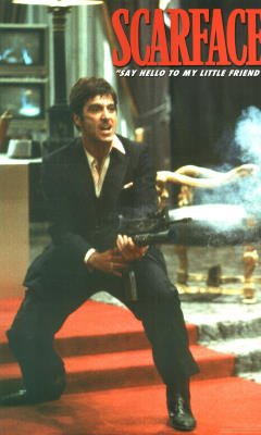 Scarface Movie Say Hello To My Little Friend Huge Poster Print