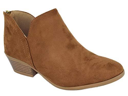 SODA Women Small Short Heel Ankle Boots Back Zipper Booties