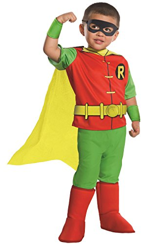 Rubie's Costume DC Comics Toddler Deluxe Robin Costume, (Robins Different Costumes)