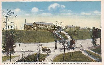 F7640 MA, Camp Devens YMCA/YWCA Buildings Postcard