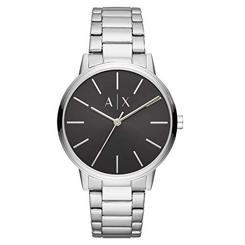(Armani Exchange Men's 'Cayde' Quartz Stainless Steel Watch, Color:Silver-Toned (Model: AX2700))