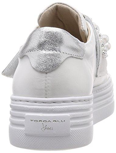 para BLU Mujer Tosca Blanco C00 Bianco Fox Zapatillas Trot AIBpqd