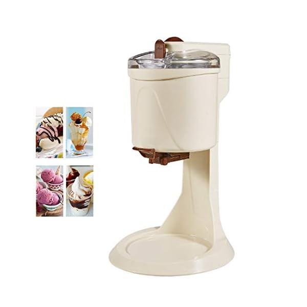 Ice Cream Maker, 1L Automatico Macchina del Gelato con Rimovibile Ice Cream Container E Pala del Silicone, Gelato Makers… 1 spesavip