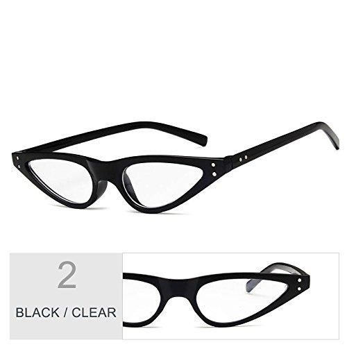 Ojo Gato pequeño Vintage gafas Black azul de de Clear TL de negro Gafas Sunglasses anteojos sol bastidor UV400 de mujeres 75RqnIYw