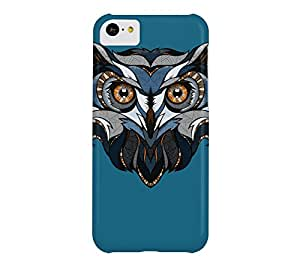 Blue Owl iPhone 5c Blue sapphire Barely There Phone Case - Design By Humans