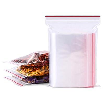 ZipCoV Bolsas de plástico Transparente con Cierre de ...