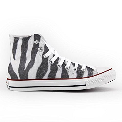 Converse All Star Personnalisé et Imprimés - chaussures à la main - produit Italien - High Zebra