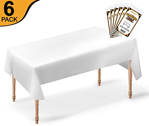 Perzest 6 Pack Premium Disposable Plastic Tablecloth | 54