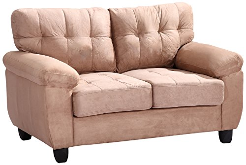 Glory Furniture G904A-L Living Room Love Seat, Mocha