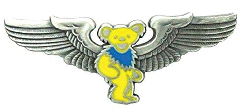 Yellow Dancing Bear (Grateful Dead Rockwings Yellow Dancing Bear Pilot Pin for Sky)