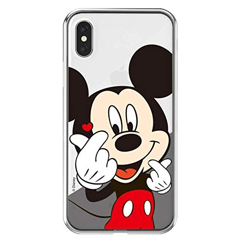 the best attitude bee99 05242 Soft TPU Clear Mickey Mouse Case for iPhone XR 6.1 Inch Ultra Slim Fit Walt  Disney Cartoon Finger Heart Red Heart Protective Cool Lovely Cute Fashion  ...