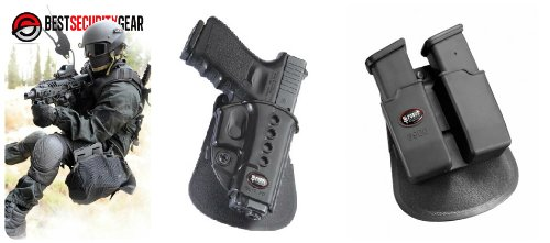 Fobus Holster Gl2 Paddle - Fobus Evolution Paddle Holster for Glock 17 19 22 23 27 31 32 34 35 + Fobus Double Magazine Paddle Pouch for Glock Glock 17 19 22 23 27 31 32 34 35 - GL2ND 6900 + Best Security Gear Magnet