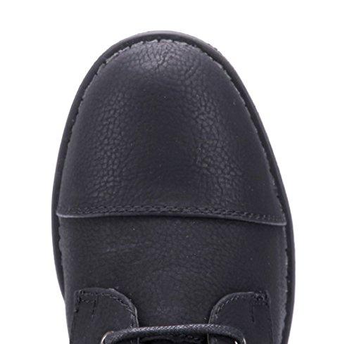 Schuhtempel24 Damen Schuhe Klassische Stiefeletten Stiefel Boots Flach Nieten 3 cm Schwarz