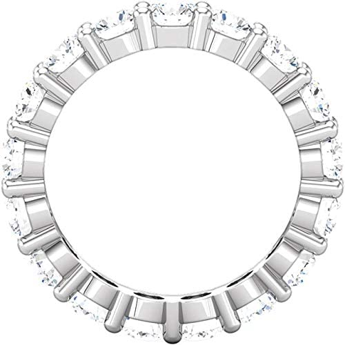 5 Carat (ctw) 14K White Gold Round Diamond Ladies Eternity Wedding Anniversary Stackable Ring Band Luxury Collection (D-E Color VS1-VS2 Clarity)