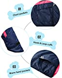 Wantdo Girl's Warm Rain Jacket Windproof Thick