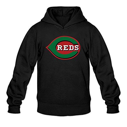 Cincinnati Red Logo Hoodie Black For Men