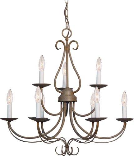 Volume Lighting V2349-22 Minster 9 light prairie rock chandelier