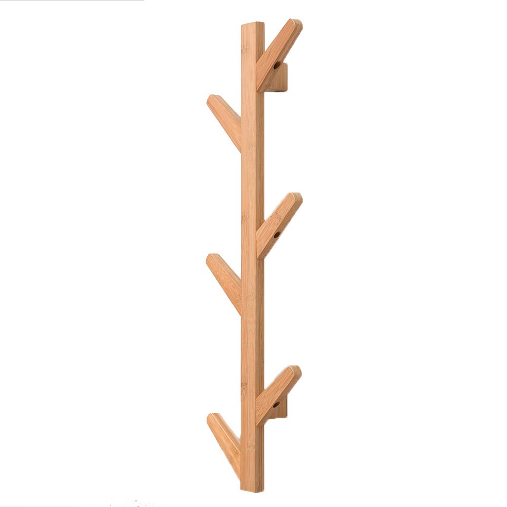 Solid wood 7x25x78cm XJRHB Wall-Mounted Tree, Bamboo 3 colors, 3 Sizes (color   White, Size   7x25x98cm)