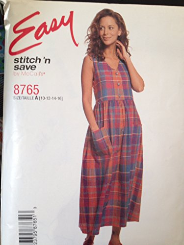 (Easy Stitch 'N Save - Misses Jumper McCalls 8765 Size A (10-12-14-16))