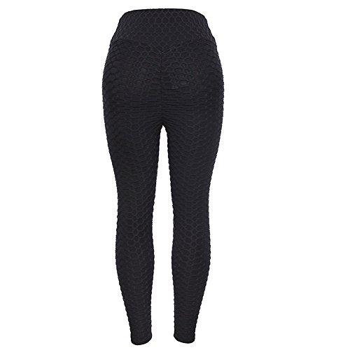 charmsamx Women Honeycomb Ruched Butt Lift Yoga Pants High Waist Workout Yoga Capris Leggings Tummy Control 4 Way Stretch Athletic Pants Sports ()
