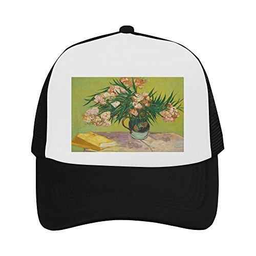 Vincent Van Gogh Painting Classic Vintage Mesh Trucker Cap Baseball Hat Black ()
